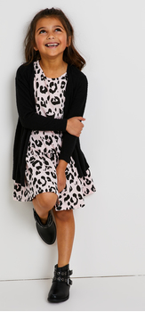 Leopard Drop Waist Dress Outfit