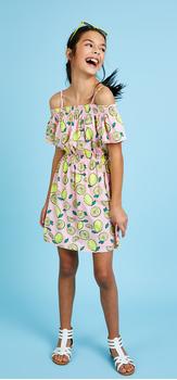 Cold Shoulder Lemon Dress Outfit