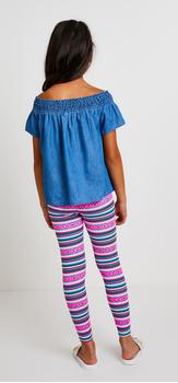 Chambray Boho Stripe Outfit