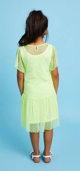 Swiss Dot Overlay Dress Outfit