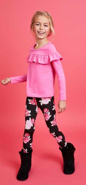 Pink Ruffle Floral Outfit