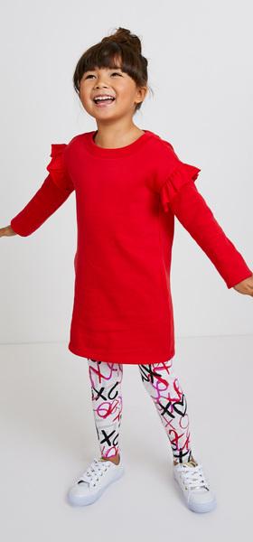 f5603029cf Ruffle Sweatshirt Dress Outfit - FabKids