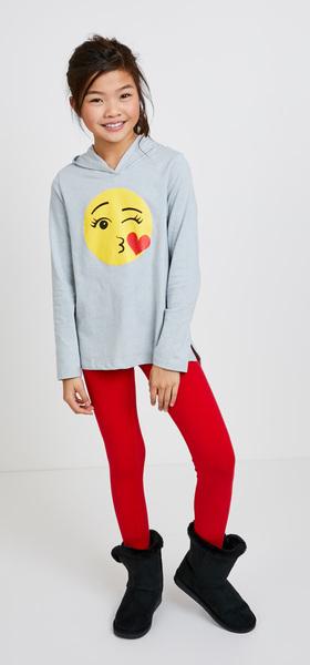 Glitter Emoji Hoodie Outfit