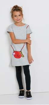 Purse Graphic Sweatshirt Dress Outfit