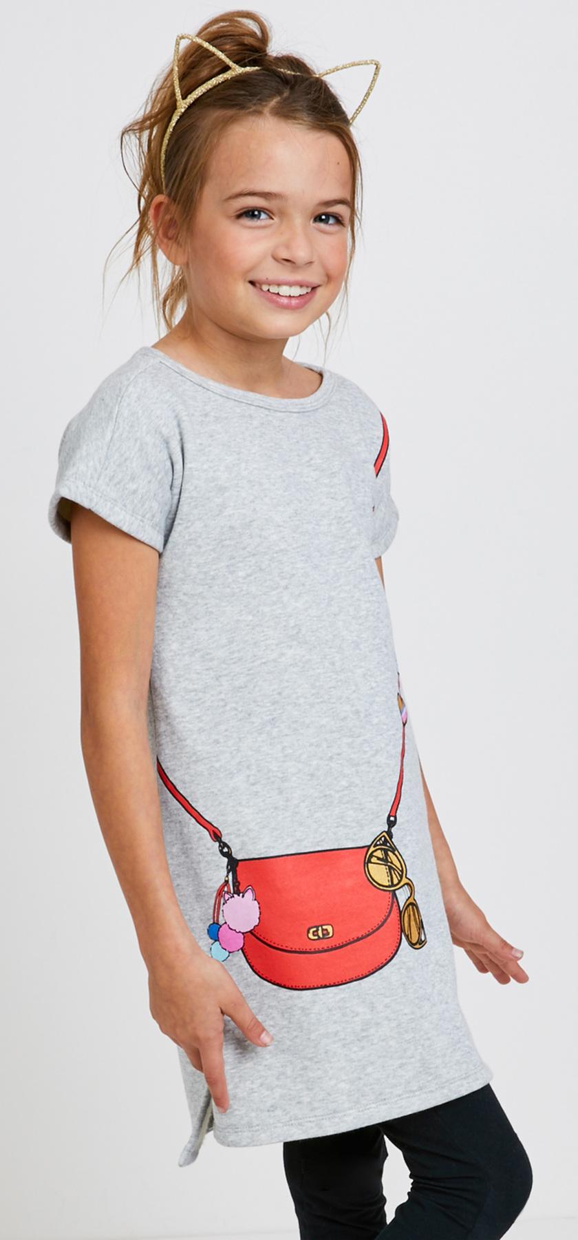 cfec02c570 Purse Graphic Sweatshirt Dress Outfit - FabKids