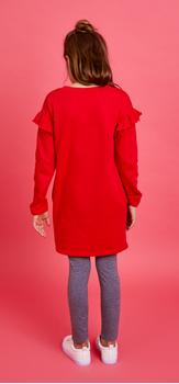 The Ruffle Sweatshirt Dress Outfit