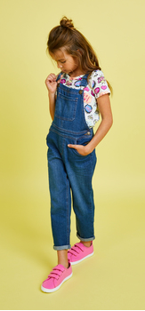 Comic Graphic Overalls Outfit