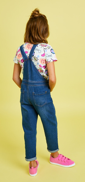 The Comic Graphic Overalls Outfit