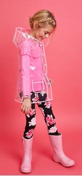 Rain Coat Ruffle Floral Outfit