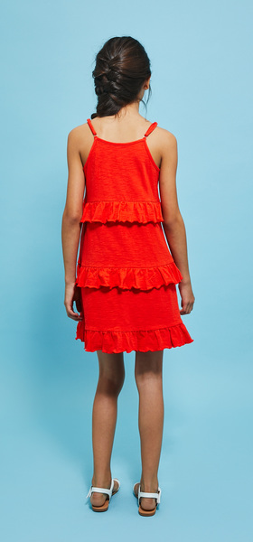 Tiered Ruffle Tank Dress Outfit