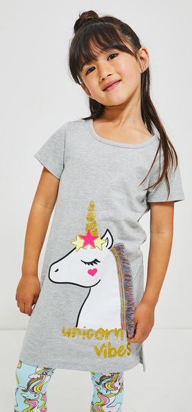 Unicorn Vibes Legging Dress Outfit