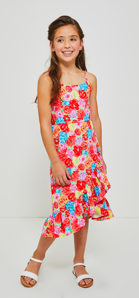 Havana Floral Print Ruffle Dress Outfit