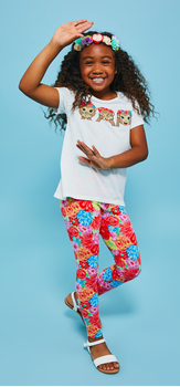 Monkey Flower Crown Legging Outfit