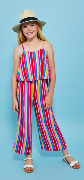 8cec9fb4c1 Havana Stripe Jumpsuit Hat Outfit - FabKids