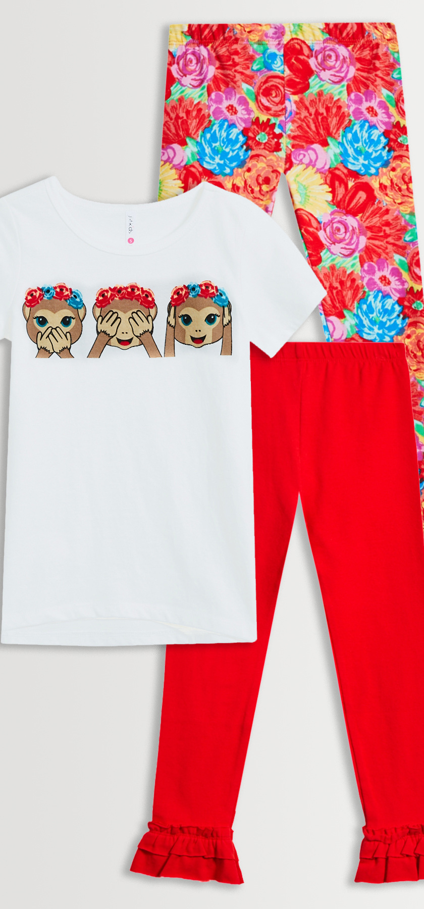 Monkey flower crown legging pack fabkids fabkidss standard terms of service regarding shipping returns and exchanges apply terms subject to change at any time without notice izmirmasajfo