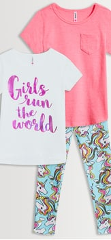 Girls Run The World Unicorn Legging Pack