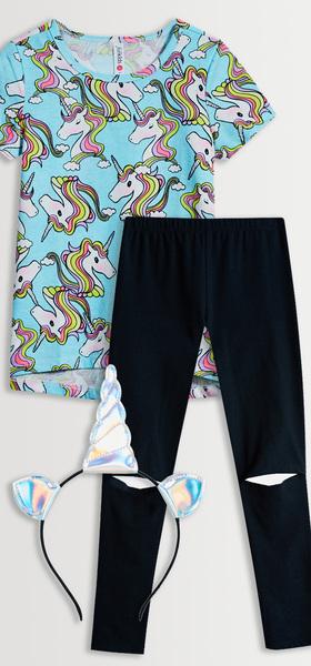 Unicorn Tee Legging Headband Pack