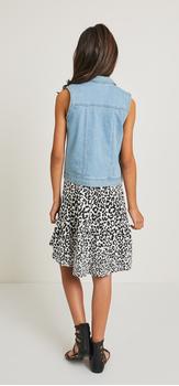 Cheetah Hi-Low Tank Dress Vest Outfit