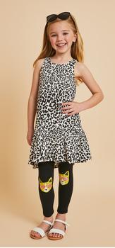 Cheetah Hi-Low Tank Dress Legging Outfit