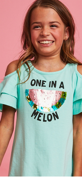One In A Melon Cold Shoulder Dress Outfit