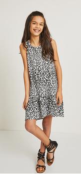 Cheetah Hi-Low Tank Dress Outfit