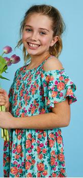 Floral Cold Shoulder Smocked Dress Outfit