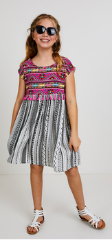 The Tassel Printed Dress Outfit