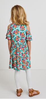 Cold Shoulder Floral Dress Outfit