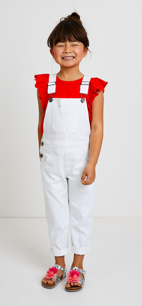Flutter Sleeve Overalls Outfit