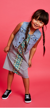 Denim Vest Tank Dress Outfit