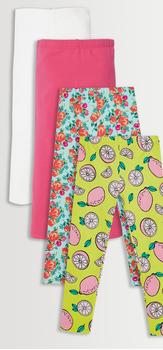 Floral Lemon Legging 4-Pack