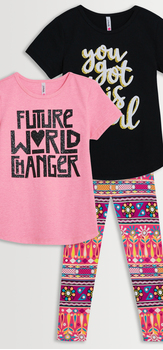 World Changer Tee & Legging 3-Pack
