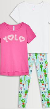 Yolo Llama Tee & Legging 3-Pack