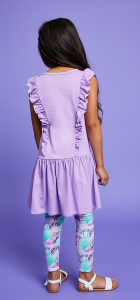 Ruffle Sleeve Seashell Dress Outfit