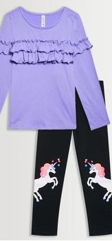 Ruffle Unicorn Legging Pack