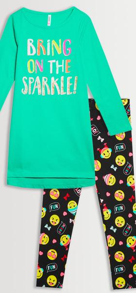 Sparkle Emoji Legging Pack