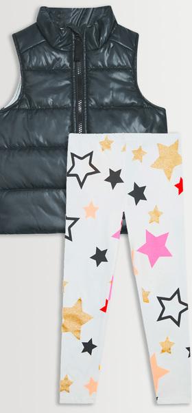 Puffer Vest Star Legging Pack