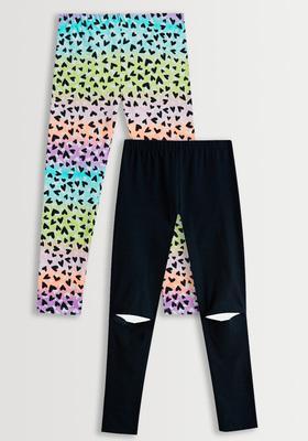 Rainbow Heart Legging Pack