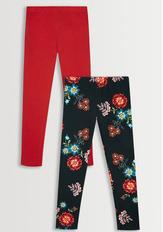 Black Floral Legging Pack