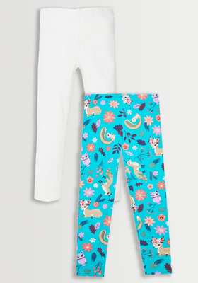 Floral Animal Legging Pack