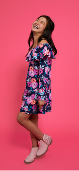 Fall Blooms Dress Outfit