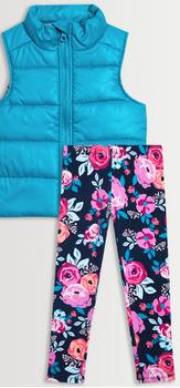 Puffer Vest Floral Legging Pack