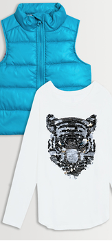 Puffer Vest Tee Pack