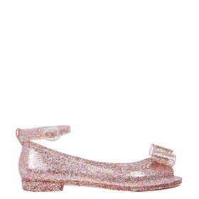 Glitter Bow Jelly Sandal