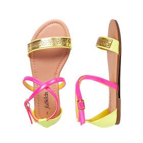 Neon Cutout Sandal