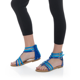 Blue Gladiator Sandal