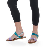 Metallic Colorblock Sandal