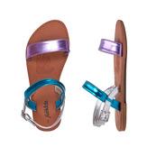 Metallic Colorblock Sandal
