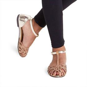 Studded Ankle Strap Sandal