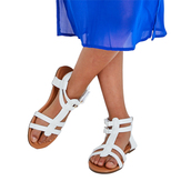 White Gladiator Sandal
